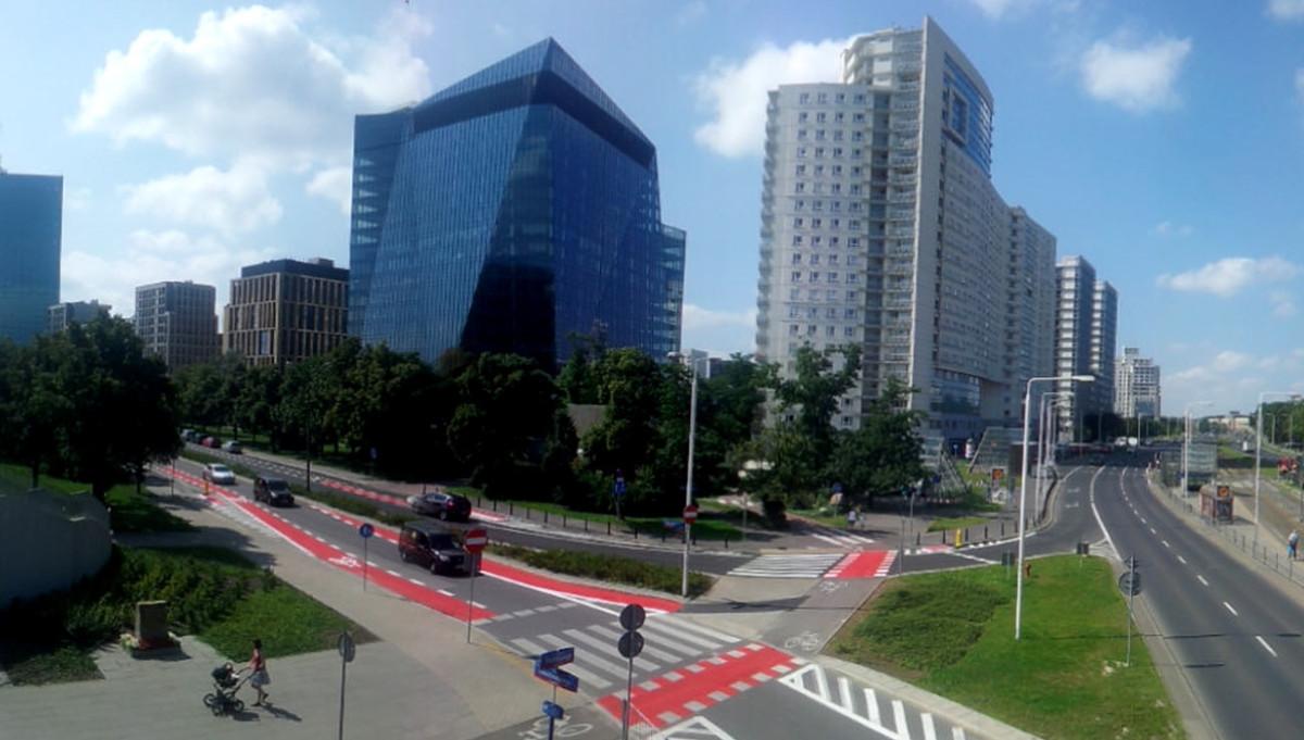 Pasy rowerowe na ul. Alka Dawidowskiego