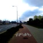 Zaniedbana główna droga dla rowerów przez Tarchomin